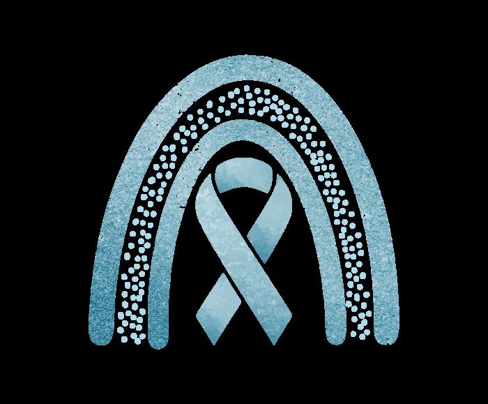 Light Blue Glitter Awareness Ribbon
