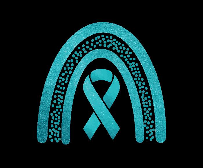 Teal/AquaGlitter Awareness Ribbon